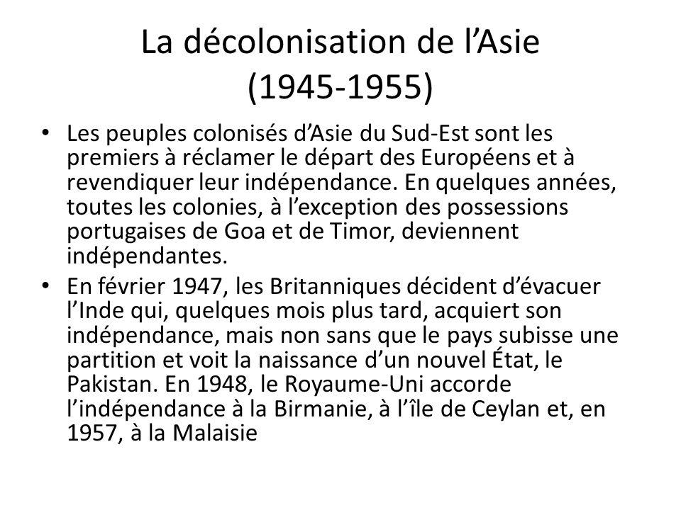 La décolonisation de l'Asie (1945-1955)