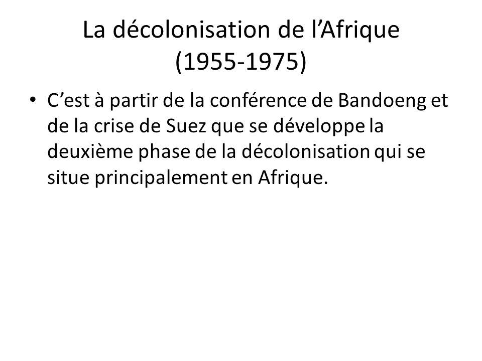 La décolonisation de l'Afrique (1955-1975)