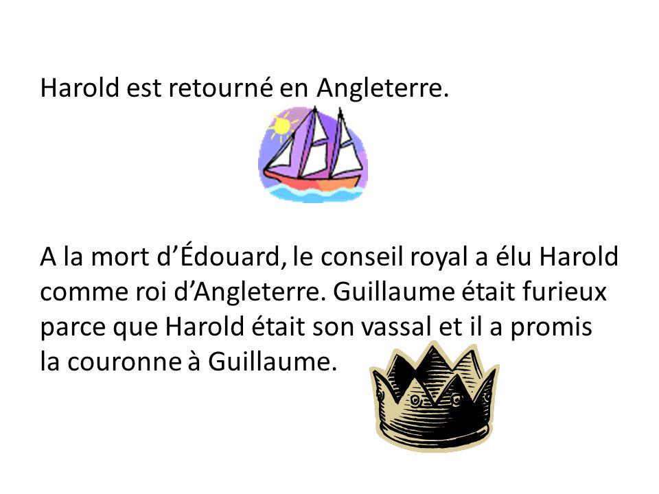 Harold est retourné en Angleterre