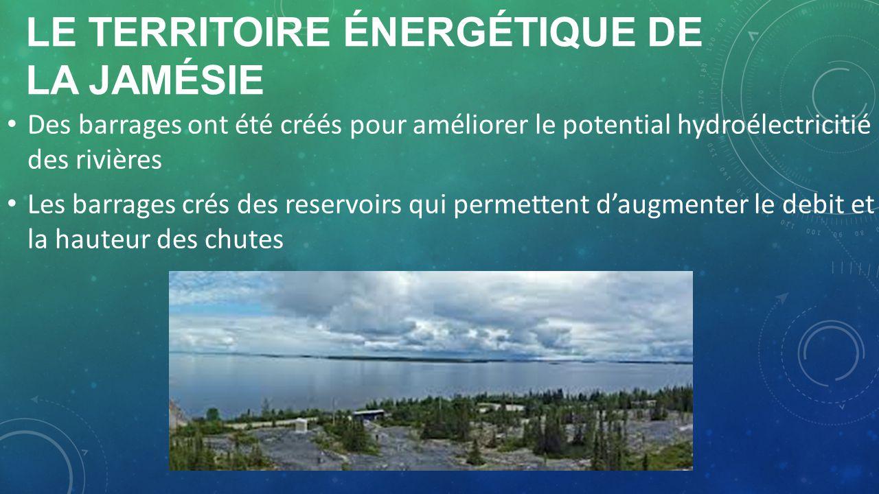 Le territoire énergétique de la jamésie