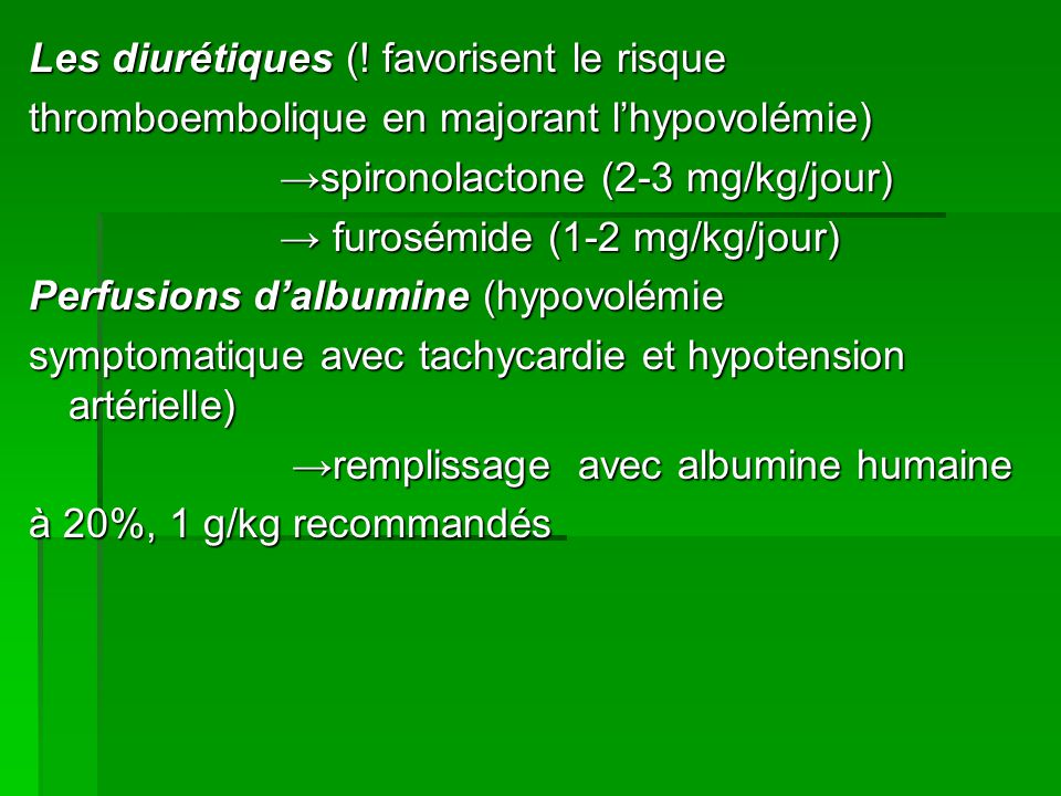 Les diurétiques (.
