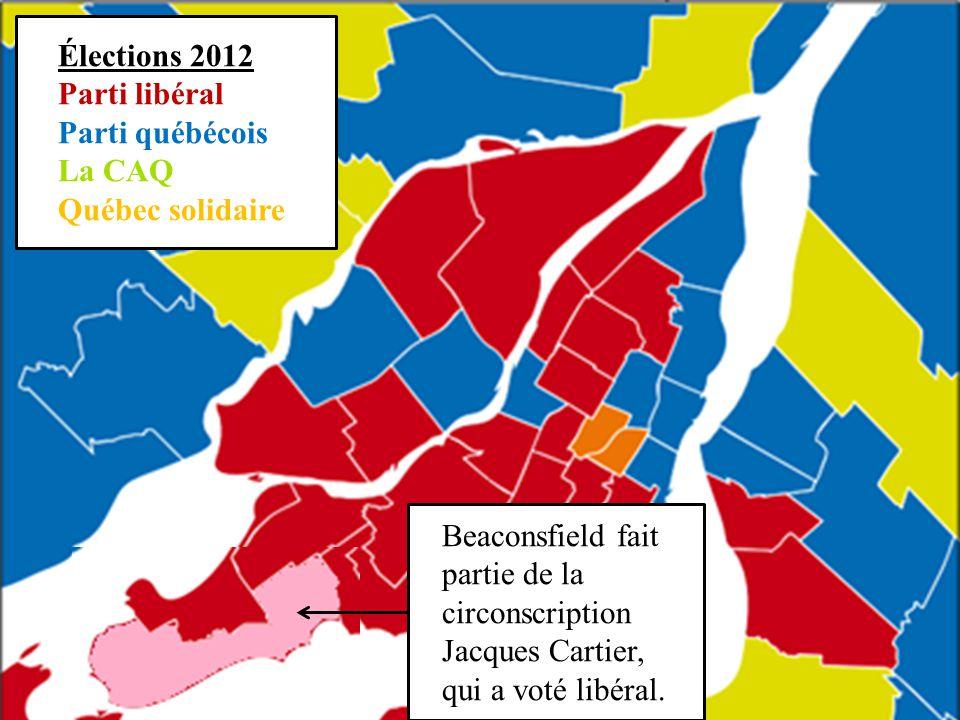 Élections 2012 Parti libéral. Parti québécois. La CAQ. Québec solidaire.