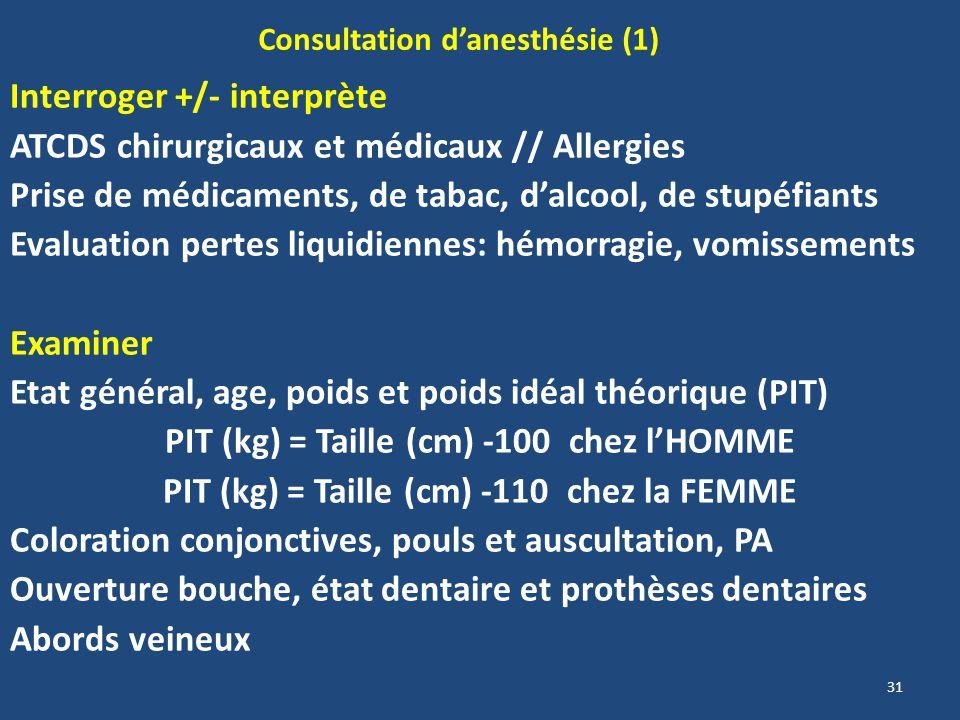 Consultation d'anesthésie (1)