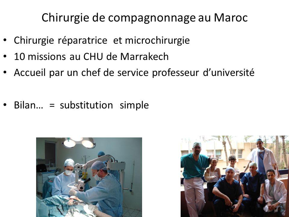 Chirurgie de compagnonnage au Maroc