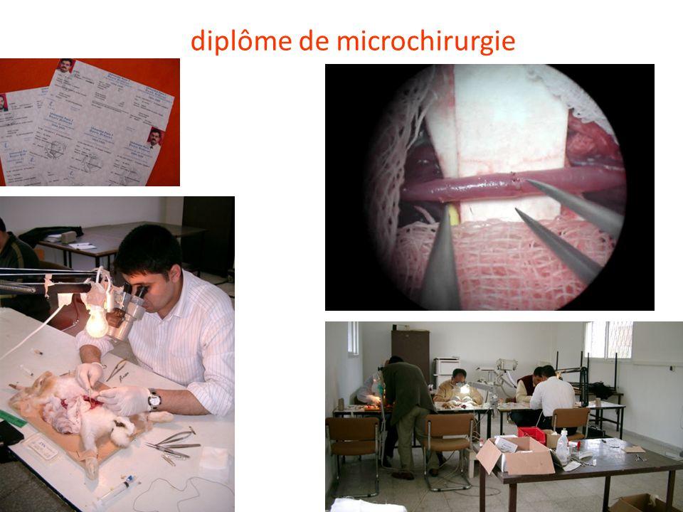 diplôme de microchirurgie