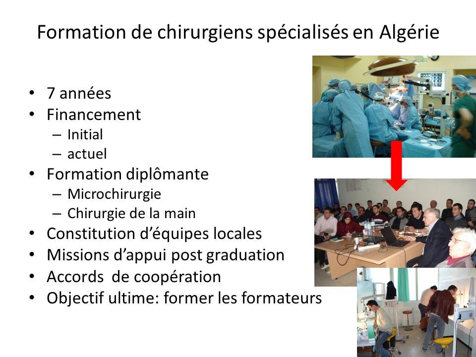 Formation de chirurgiens spécialisés en Algérie