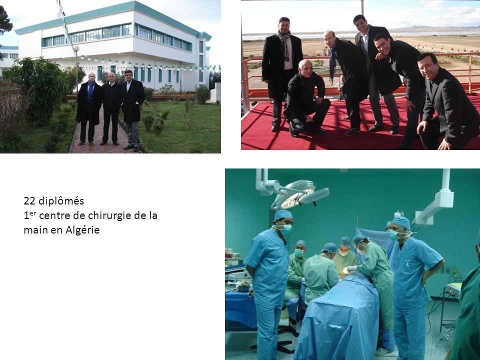 22 diplômés 1er centre de chirurgie de la main en Algérie