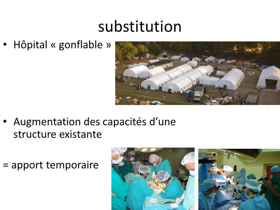 substitution Hôpital « gonflable »