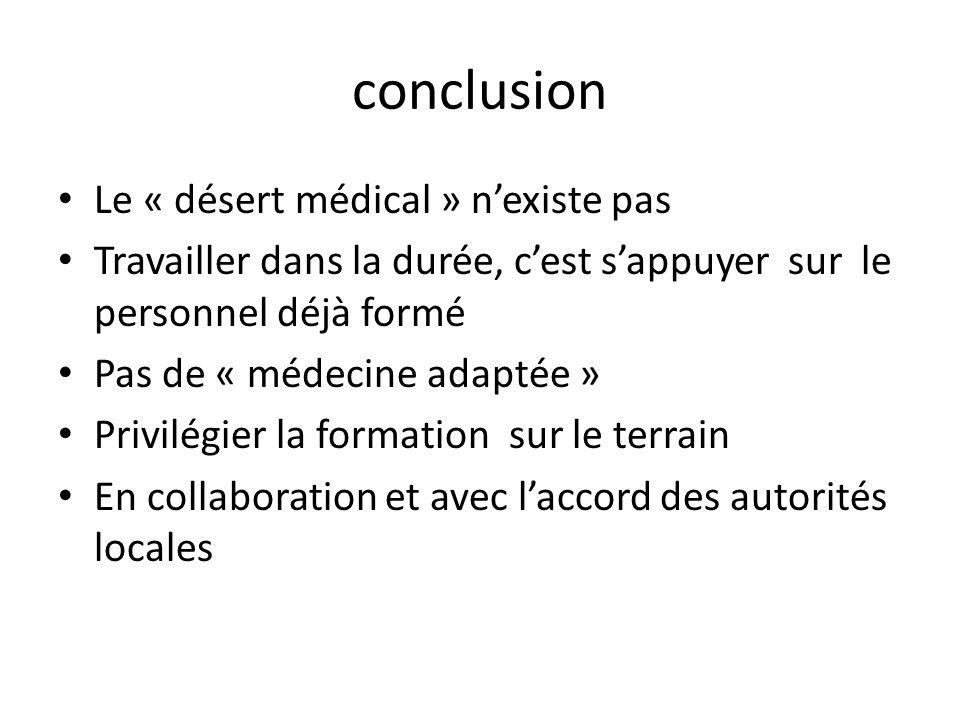 conclusion Le « désert médical » n'existe pas