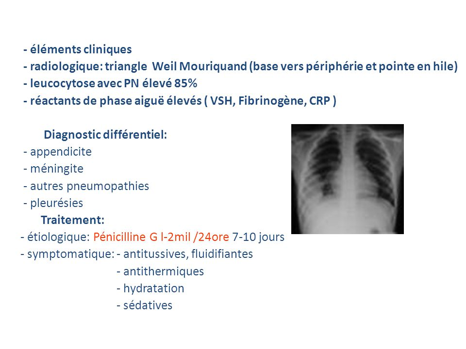 Diagnostic: - éléments cliniques