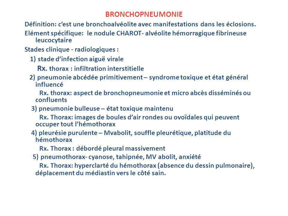 1) stade d'infection aiguë virale