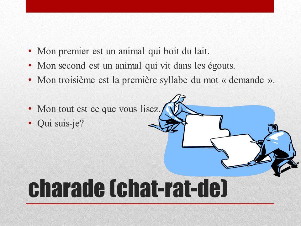 charade (chat-rat-de)