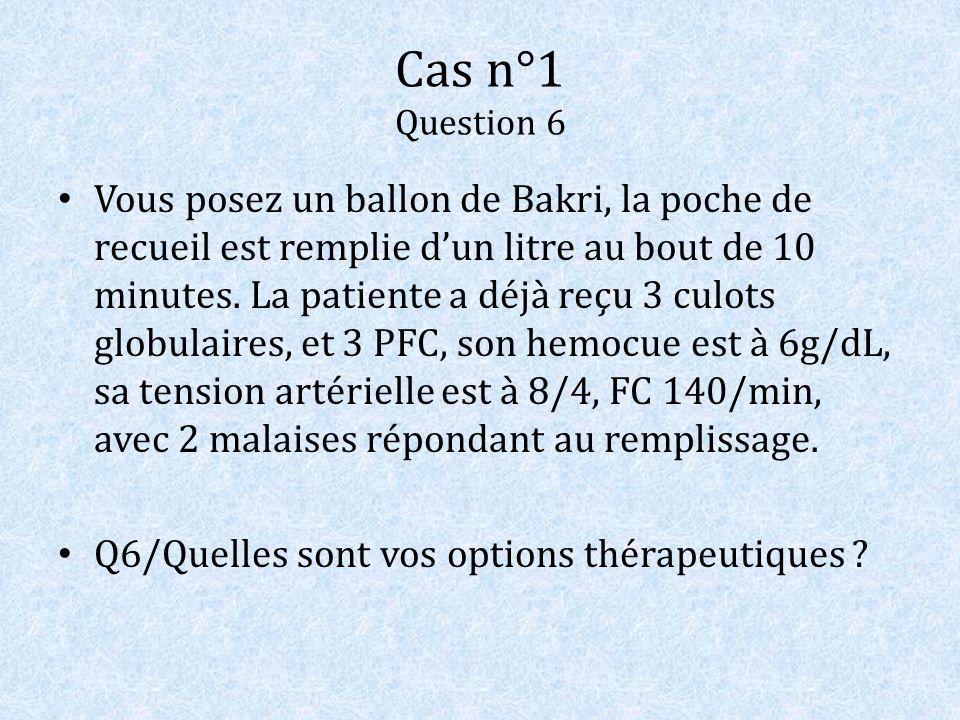 Cas n°1 Question 6