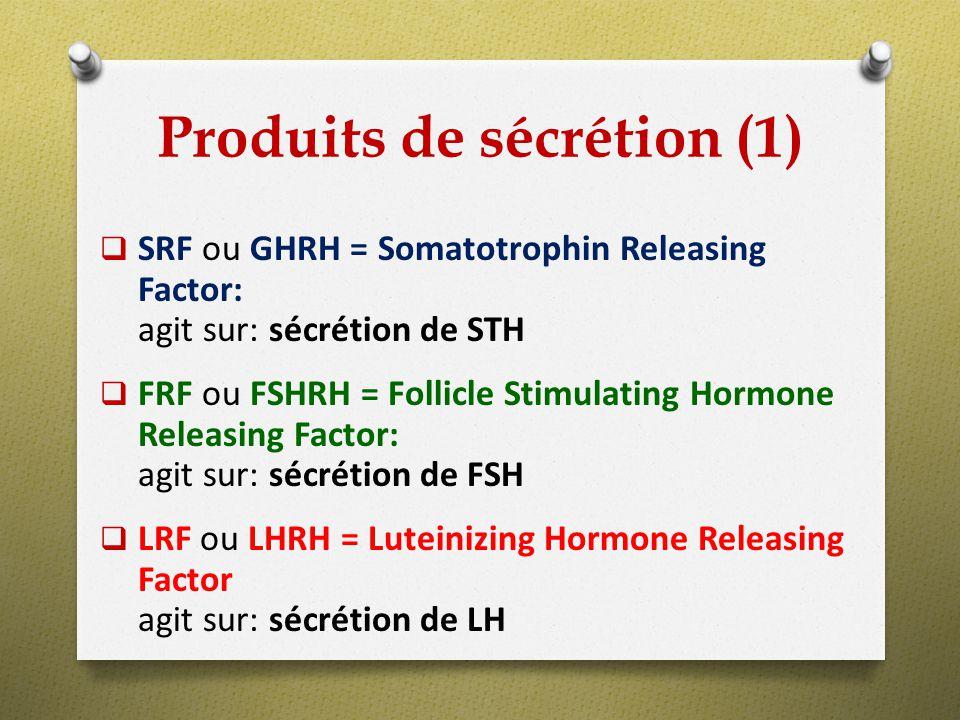 Produits de sécrétion (1)