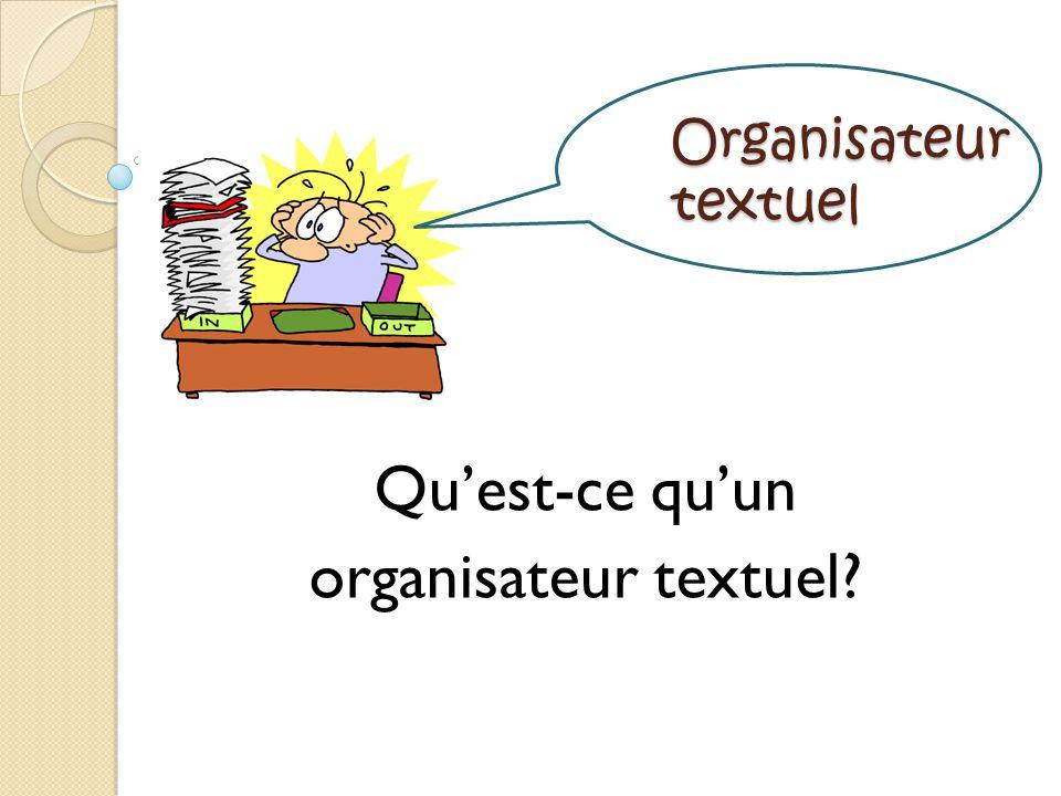 Qu'est-ce qu'un organisateur textuel