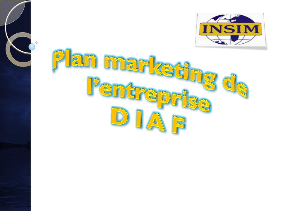 Plan marketing de l'entreprise