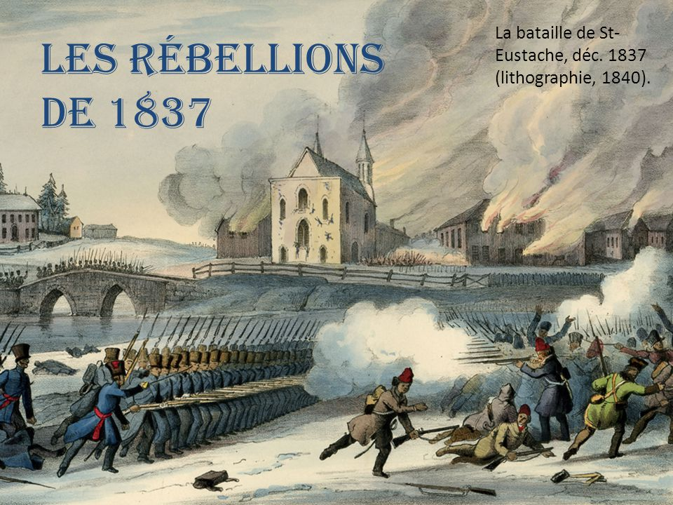 La bataille de St-Eustache, déc. 1837 (lithographie, 1840).