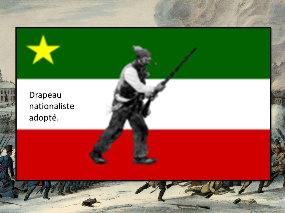 Drapeau nationaliste adopté.