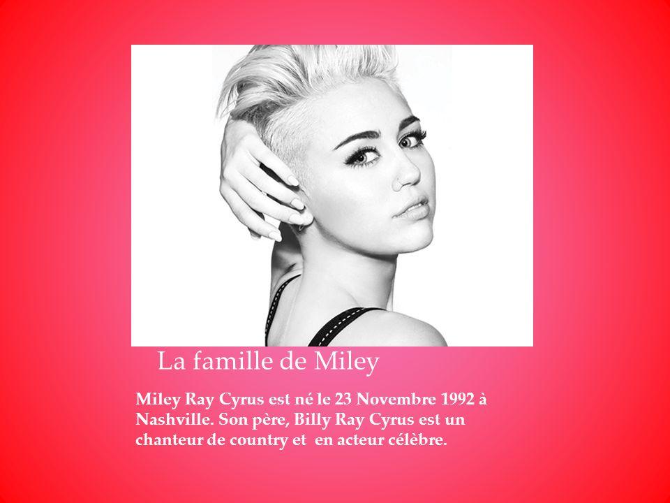 La famille de Miley
