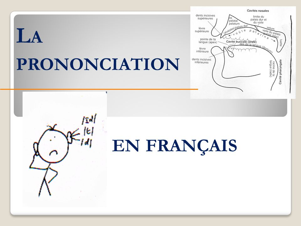 La prononciation en français
