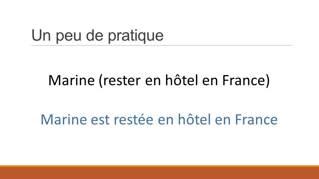 Marine (rester en hôtel en France)