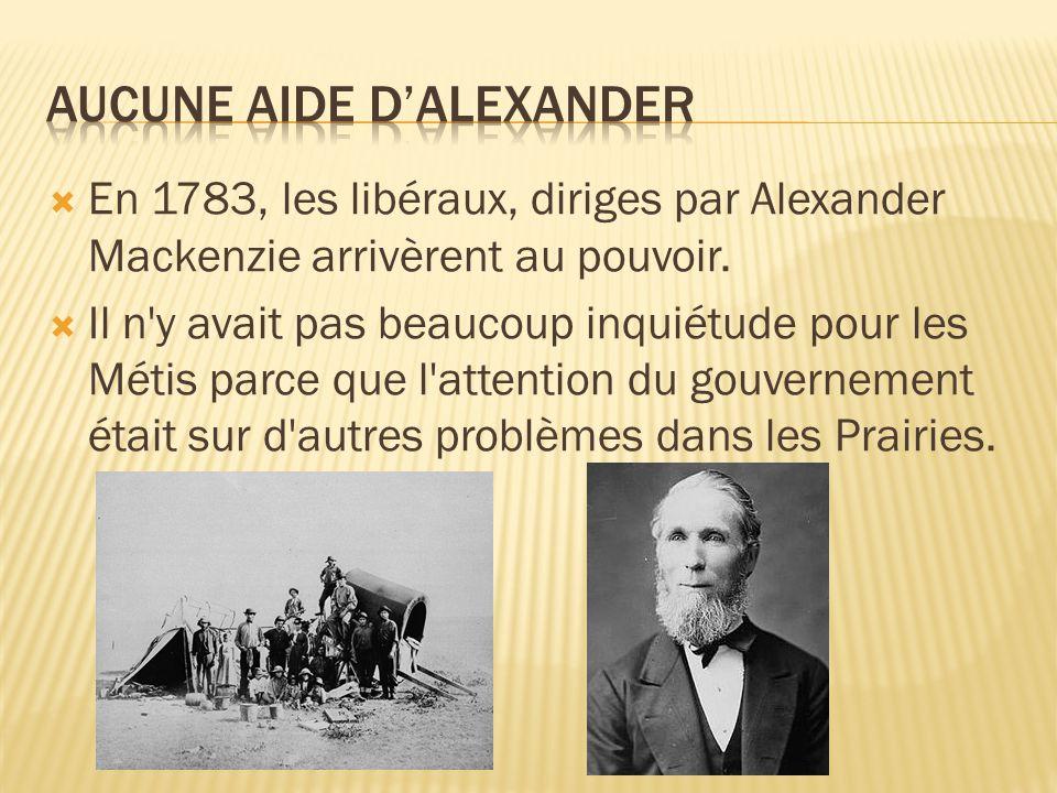 Aucune aide d'Alexander