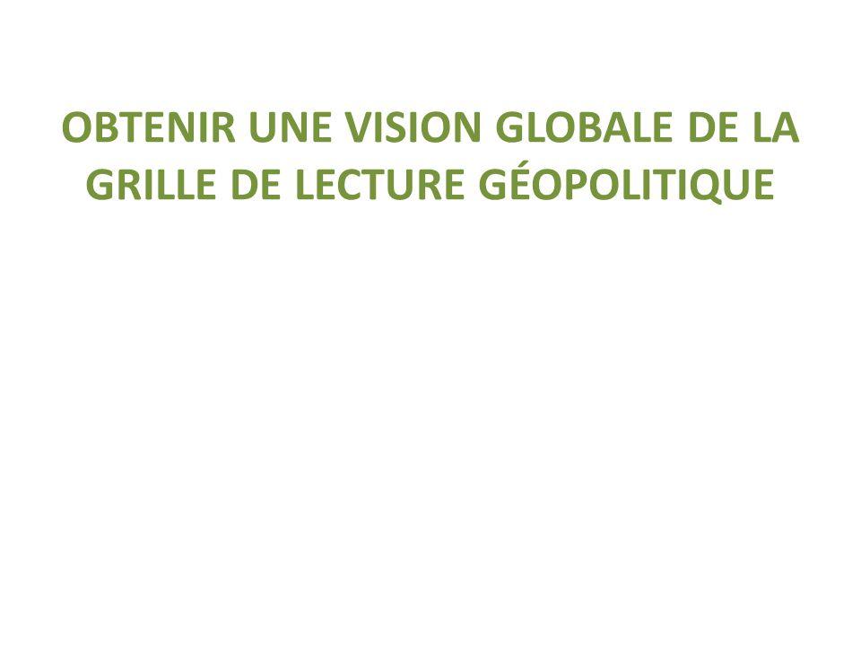 OBTENIR UNE VISION GLOBALE DE LA GRILLE DE LECTURE GÉOPOLITIQUE