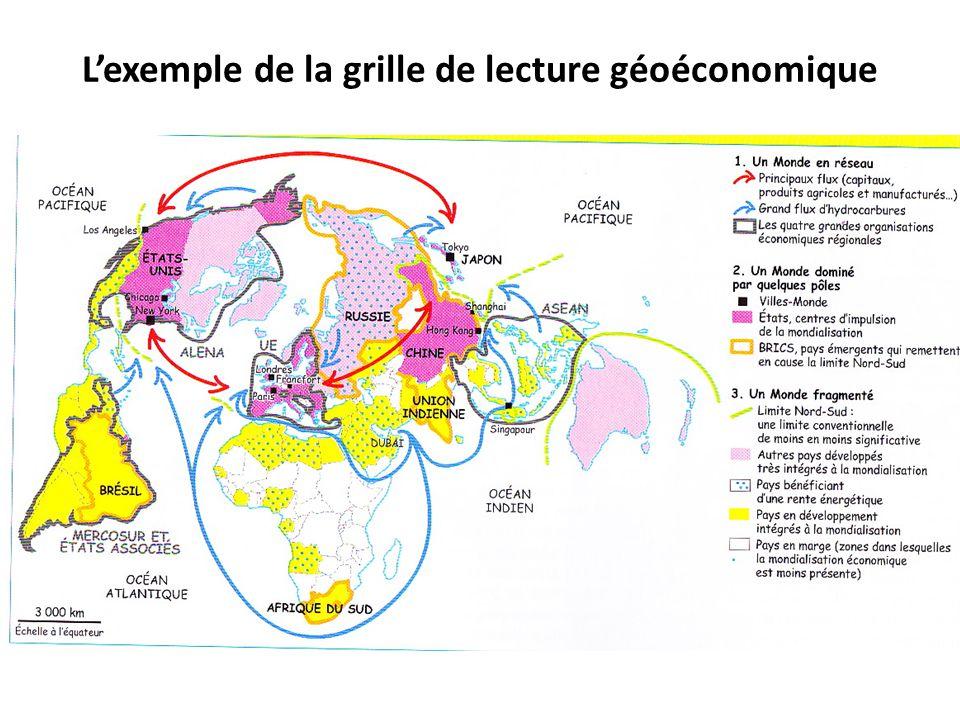 L'exemple de la grille de lecture géoéconomique