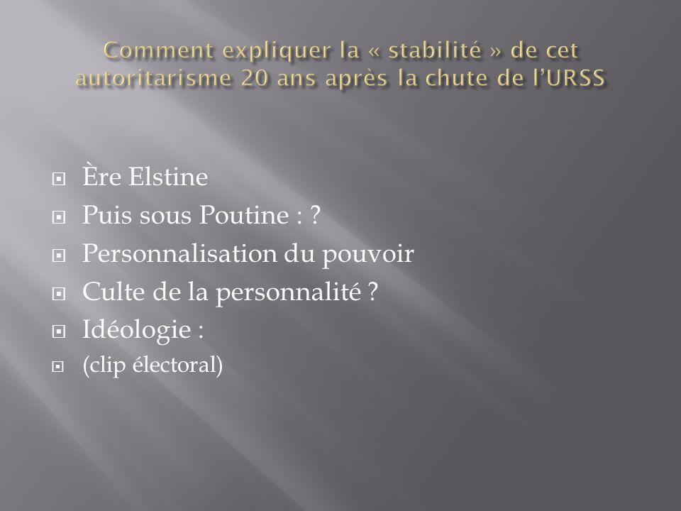 Personnalisation du pouvoir Culte de la personnalité Idéologie :