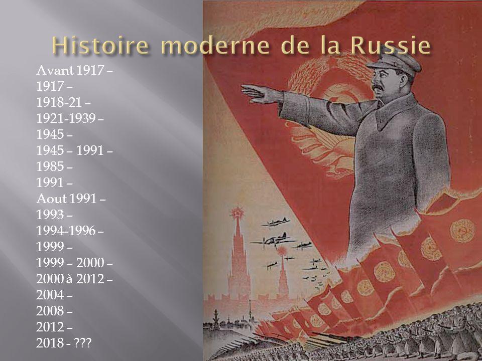 Histoire moderne de la Russie