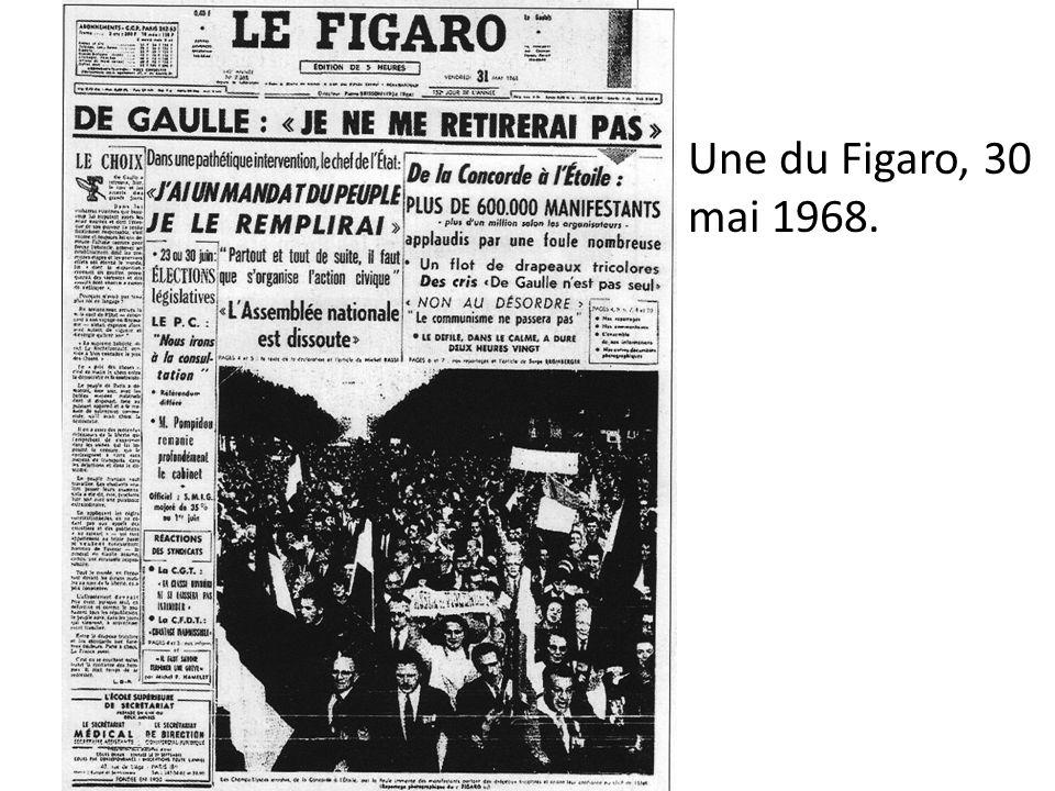 Une du Figaro, 30 mai 1968.