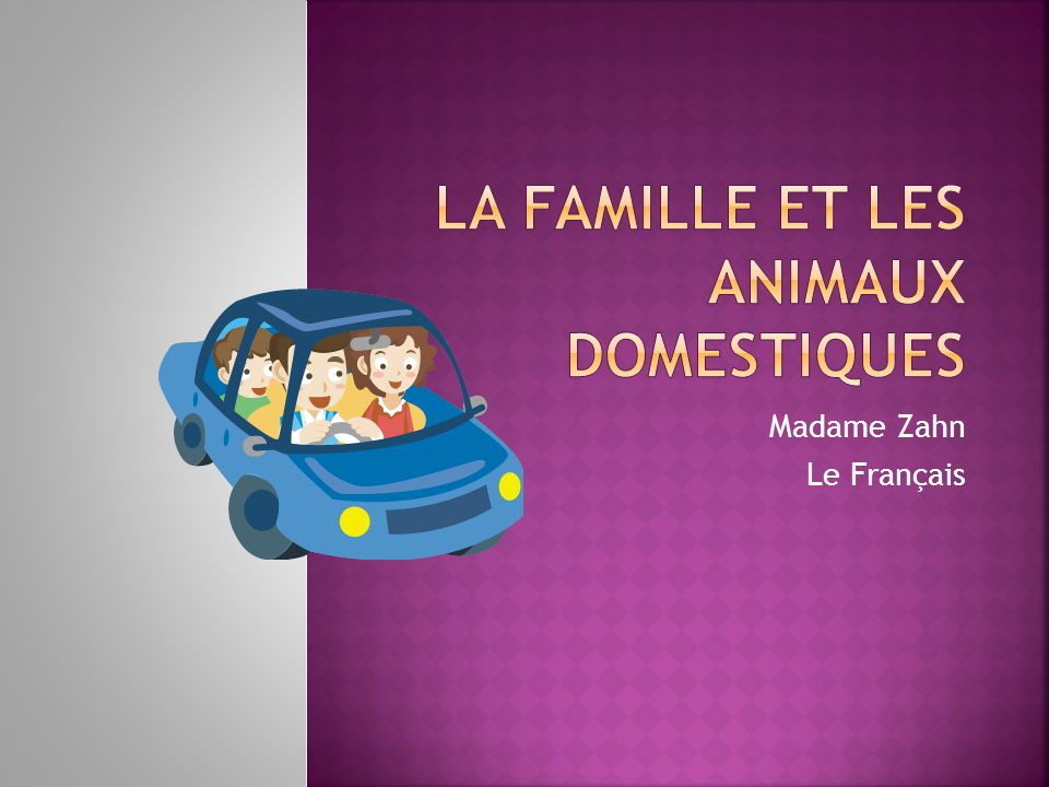 La Famille et les animaux domestiques