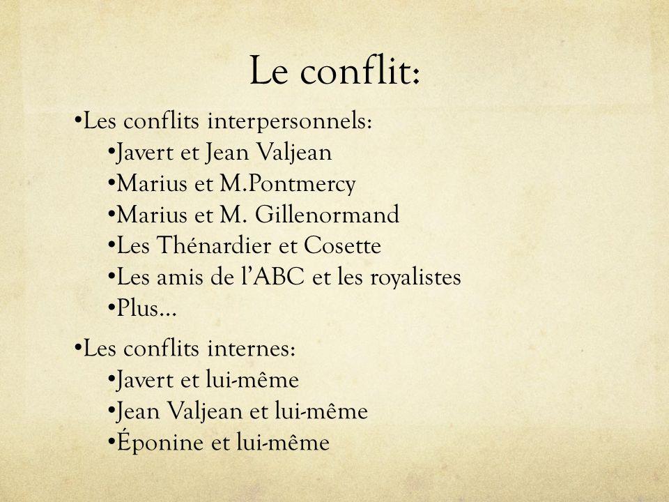 Le conflit: Les conflits interpersonnels: Javert et Jean Valjean