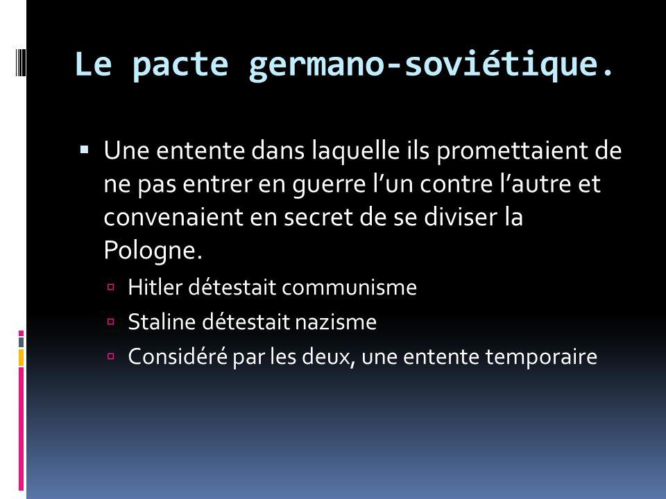 Le pacte germano-soviétique.