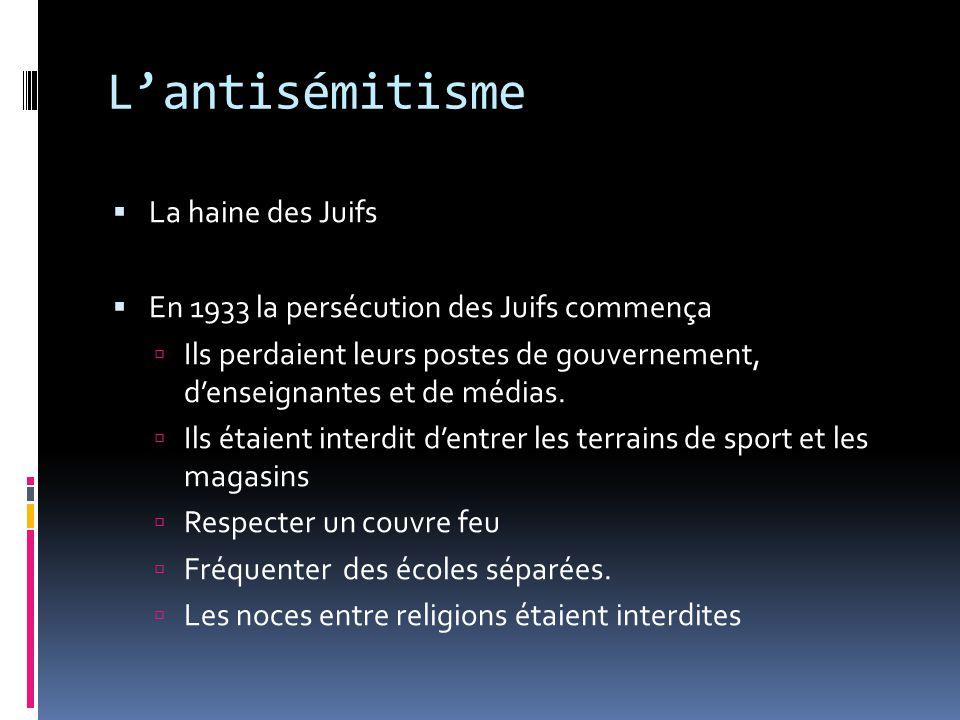 L'antisémitisme La haine des Juifs