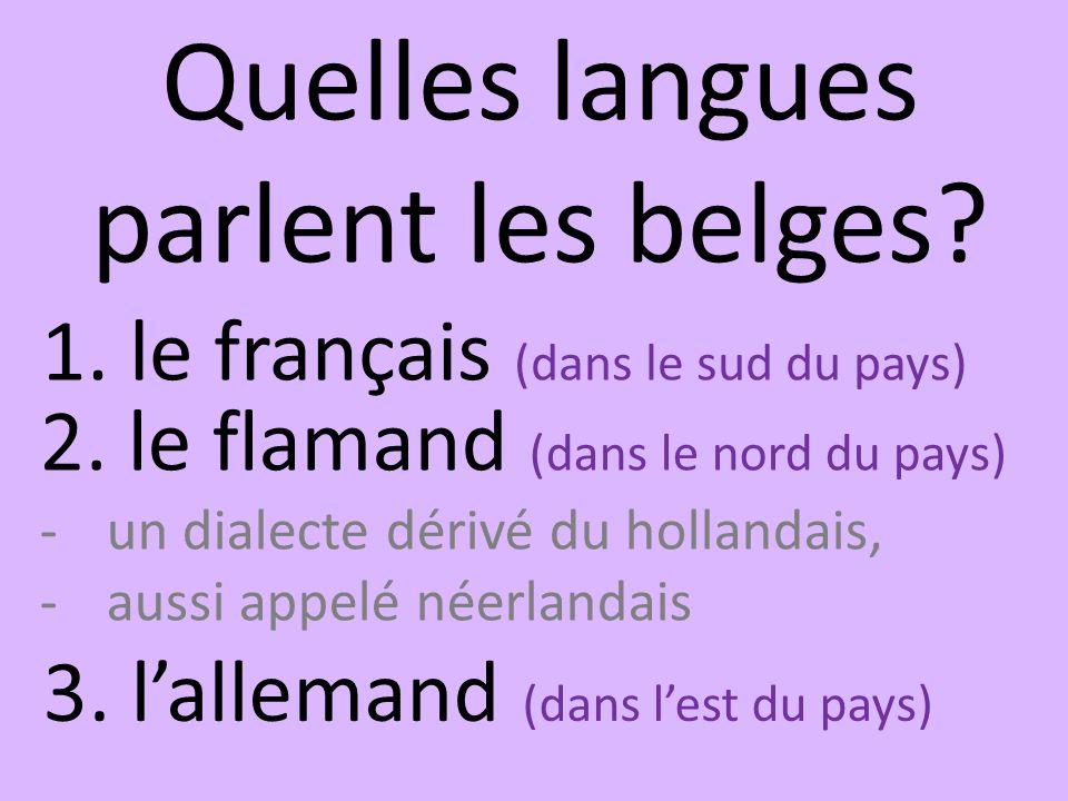 Quelles langues parlent les belges