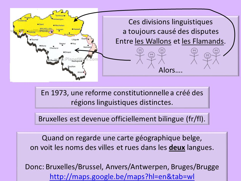 Ces divisions linguistiques a toujours causé des disputes