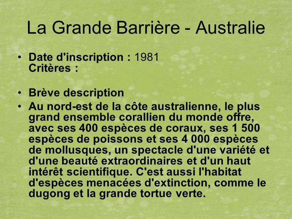 La Grande Barrière - Australie
