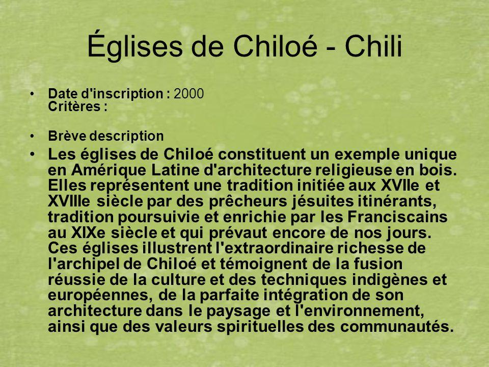 Églises de Chiloé - Chili