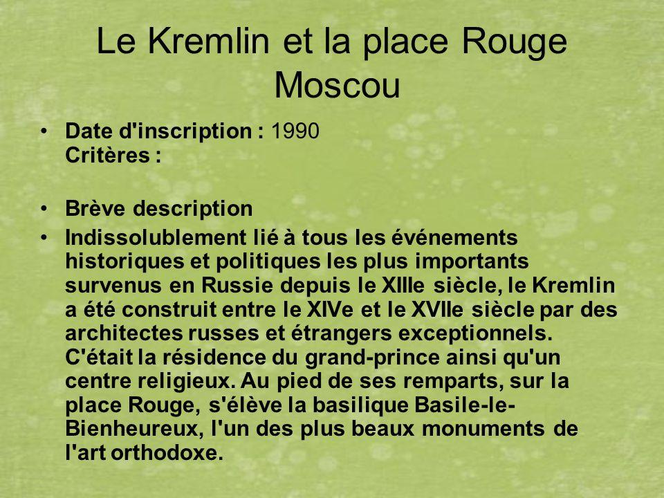 Le Kremlin et la place Rouge Moscou