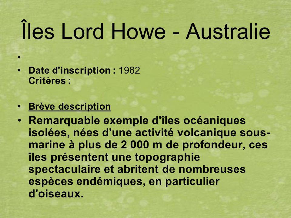 Îles Lord Howe - Australie