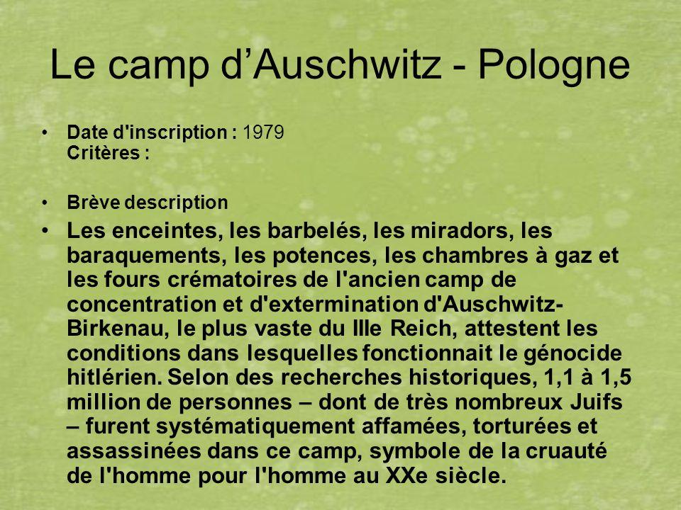 Le camp d'Auschwitz - Pologne