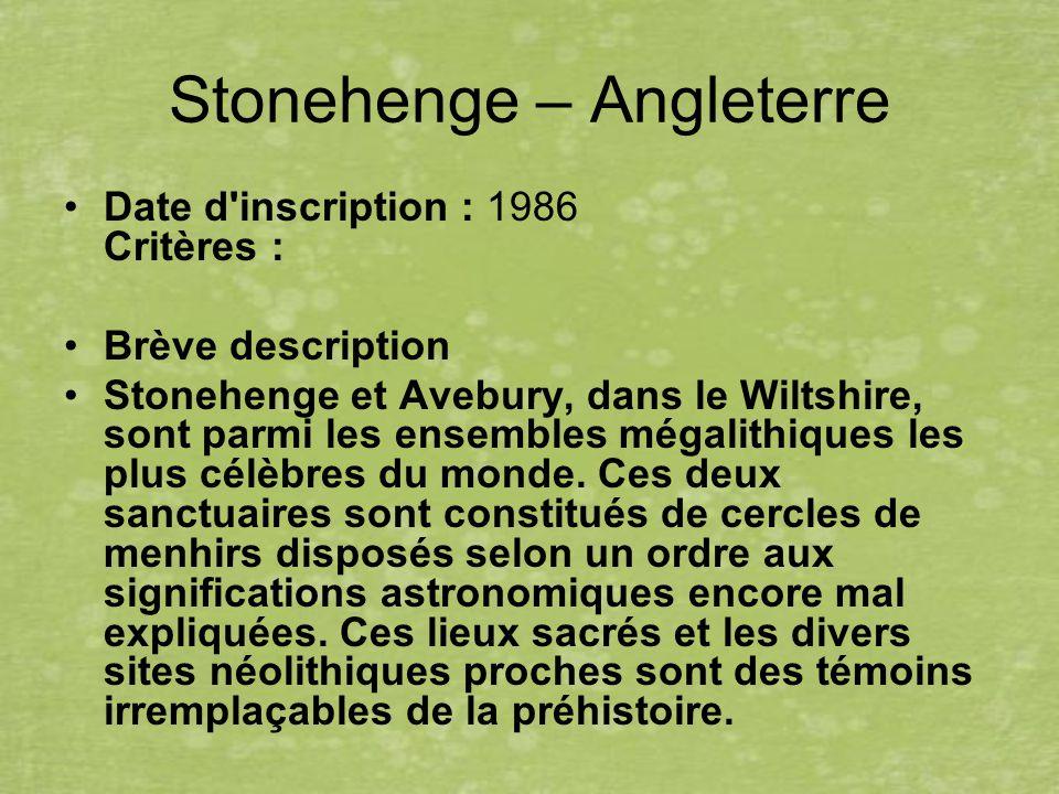 Stonehenge – Angleterre