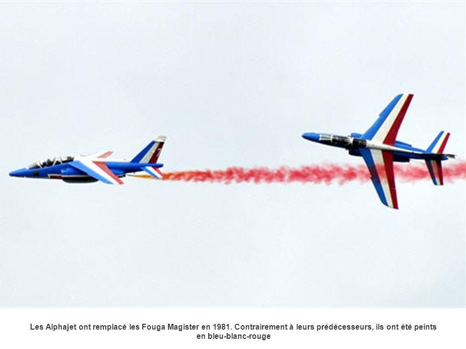 Les Alphajet ont remplacé les Fouga Magister en 1981