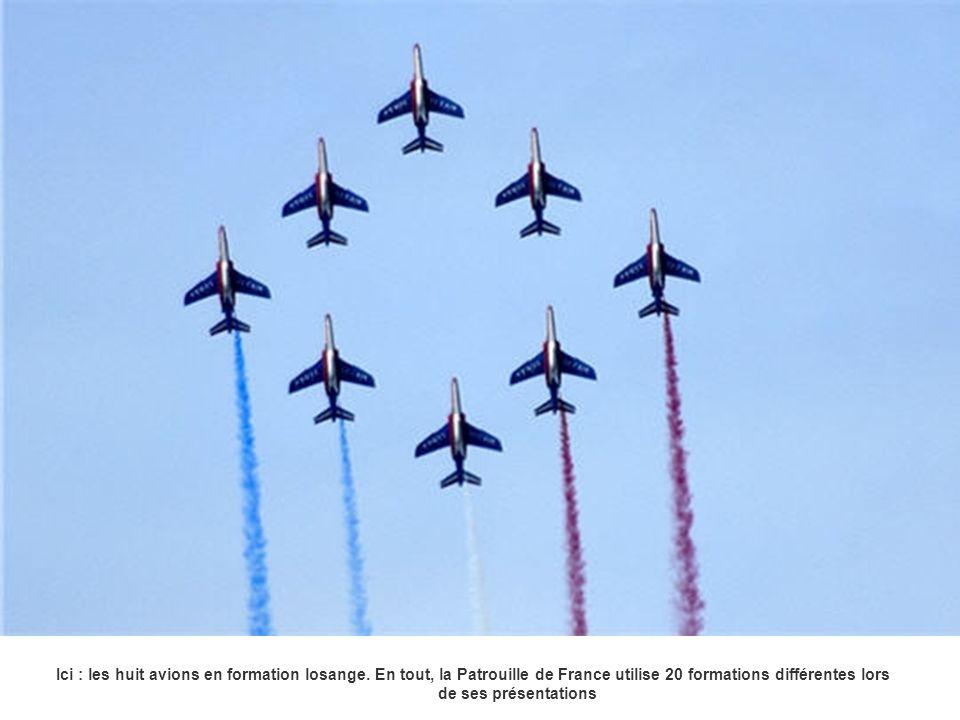 Ici : les huit avions en formation losange