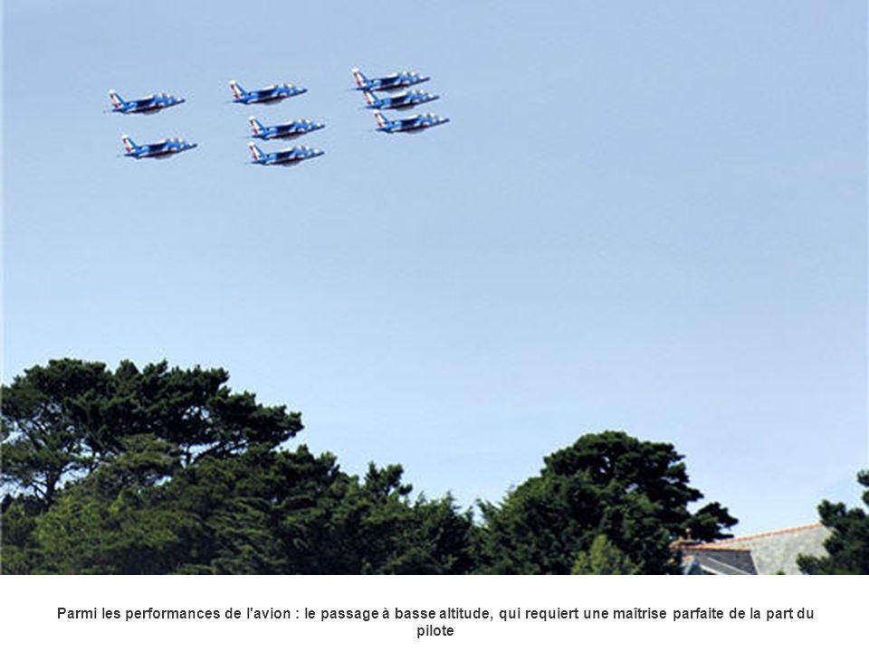 Parmi les performances de l avion : le passage à basse altitude, qui requiert une maîtrise parfaite de la part du pilote