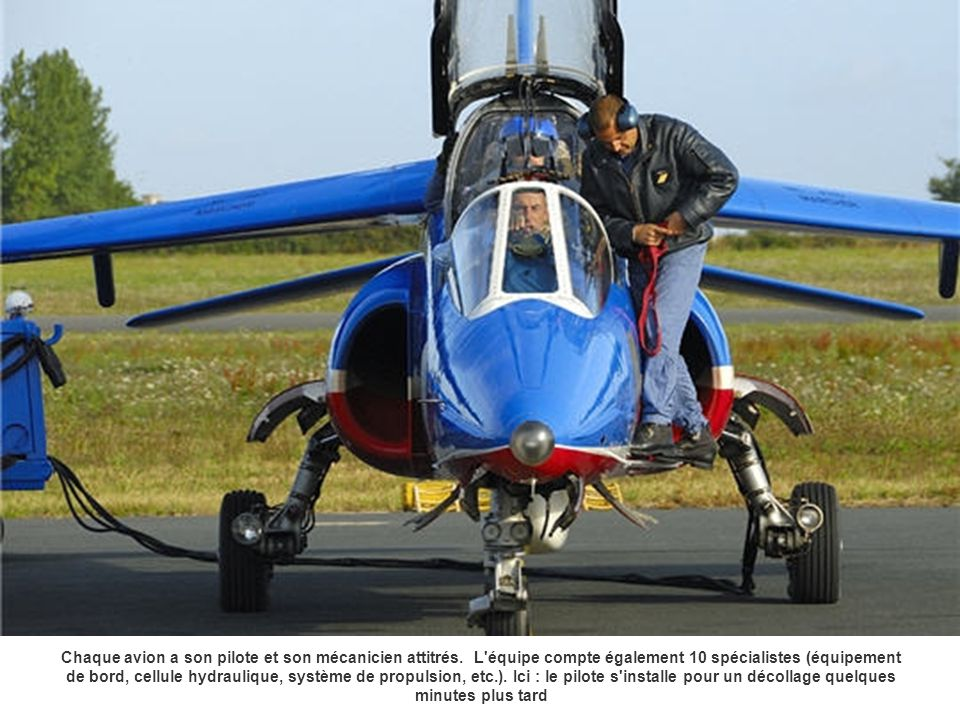 Chaque avion a son pilote et son mécanicien attitrés