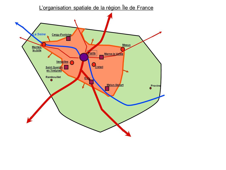 L'organisation spatiale de la région Île de France