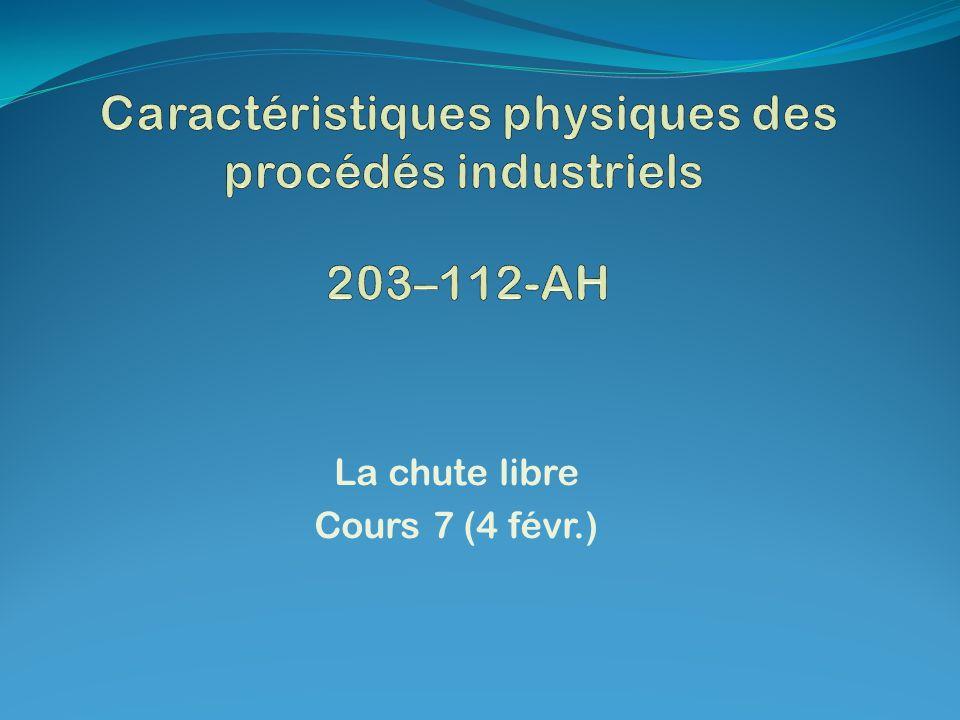 Caractéristiques physiques des procédés industriels 203–112-AH
