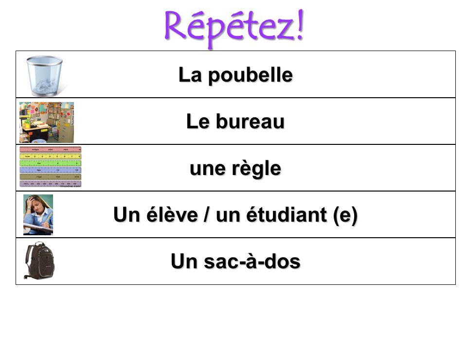 Un élève / un étudiant (e)